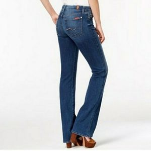 7 For All Mankind Boot Cut Jeans Mid Rise 28